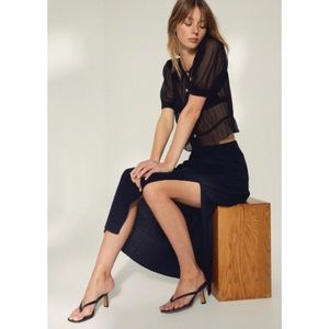 Aritzia Wilfred Slit Knit Skirt